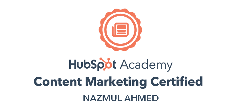 content marketing certificate by Hubspot