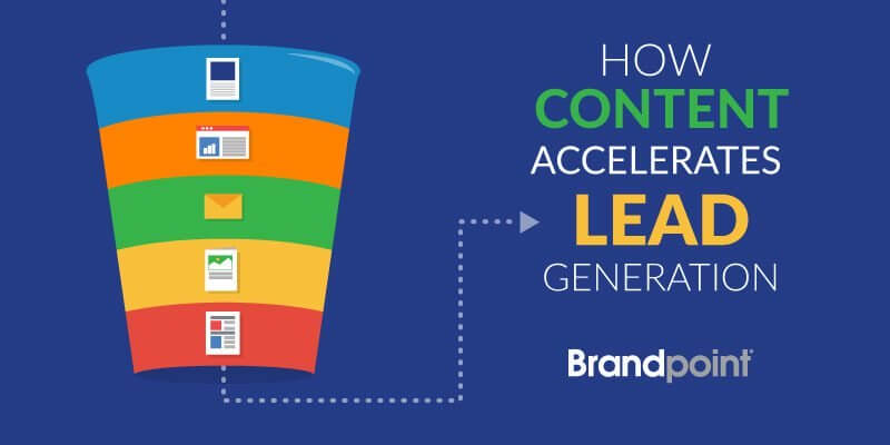 Lead generation using contents