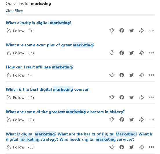 Questions on Quora