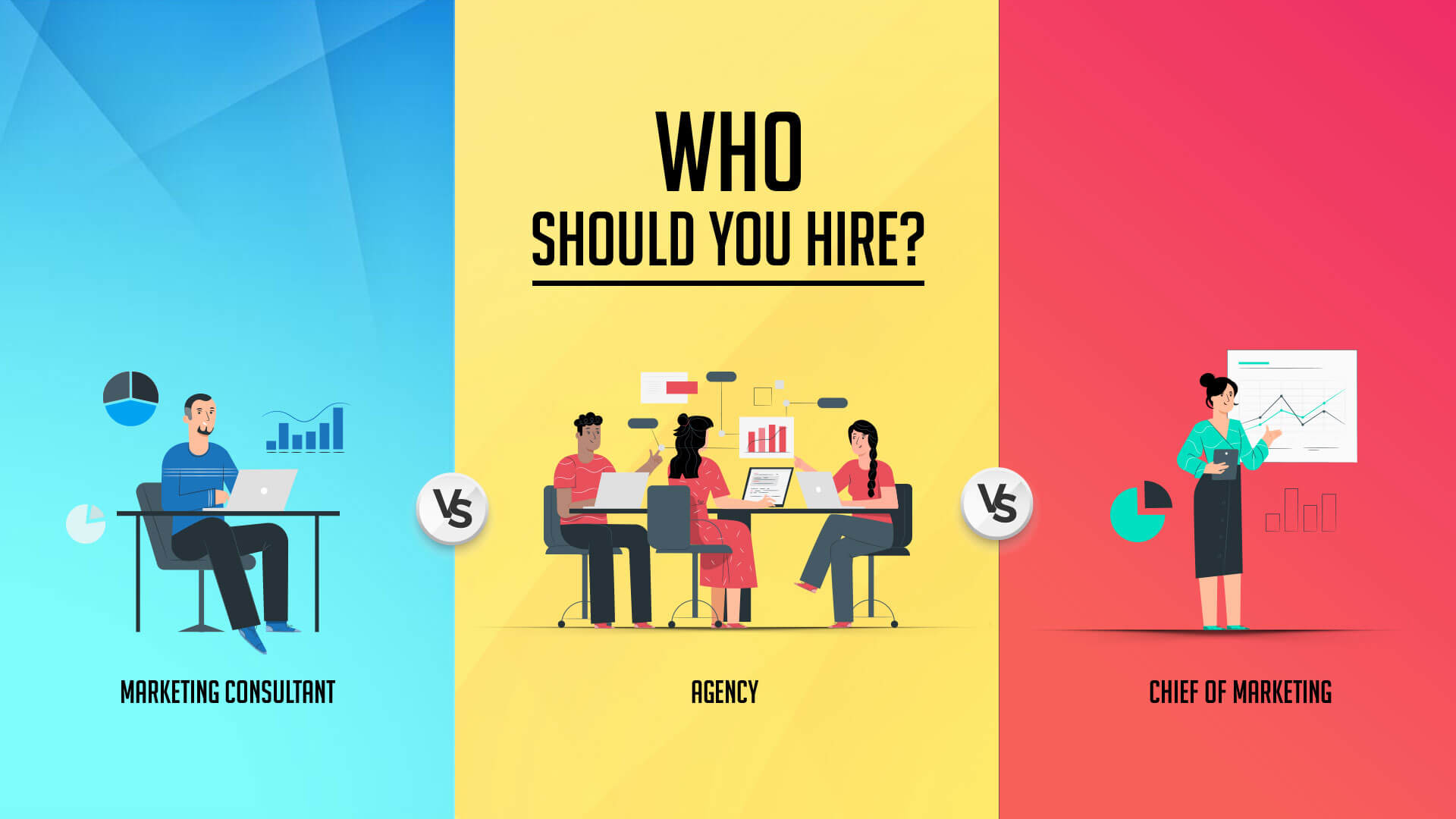 Should You Hire Marketing consultant, Marketing Agency or a CMO?